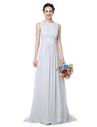 LAN TING BRIDE Golvlång Prydd med juveler Brudtärneklänning - Elegant Ärmlös Chiffong