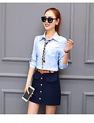 stora tröja kvinnliga långärmad tröja 2017 våren nya koreanska versionen av odla vilda skjorta ms. vår