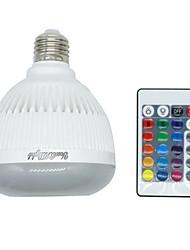 youoklight 1kpl E26 / E27 4w bluetooth rgb musiikkia lamppu kaukosäädin mini älykäs äänikaiutin RGB musiikki johti hehkulamppu disco