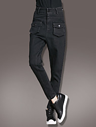 Real shot in Europe and America 2017 spring new casual pants washed Slim thin large pocket harem pants tide