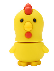 USB2.0 Flash Drive Disk 64GB Cute Little Yellow Rubber