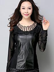 skylt spets skjorta våren och hösten stora gårdar smal gasbinda skjorta kvinnliga långärmad tröja vilda liten skjorta