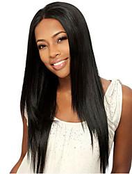 흑인 여성 아기 머리의 저렴한 레미 젖은 긴 직선 글루리스 물결 인간의 머리 표백 노트 전체 인간의 머리 레이스 정면 처녀 밥 가발