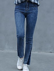 Sign 2017 new Korean Institute of wind Slim was thin stretch jeans feet pantyhose fashion flash