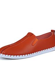 גברים-נעליים ללא שרוכים-עור-נוחות סוליות מוארותשטח יומיומי-עקב שטוח