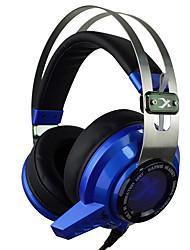 xiberia v2 cuffie da gioco oltre orecchio ha condotto la luce stereo di vibrazione per computer auricolare PC Gamer auricolari bagliore
