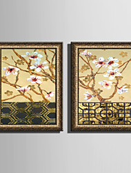 Krajina Květiny a rostliny Kanvas v rámu Set v rámu Wall Art,PVC Materiál Zlatá Bez pasparty s rámem For Home dekorace rám Art