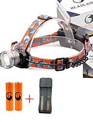 Lanternas de Cabeça 2000 Lumens 3 Modo Cree XM-L T6 18650.0 Foco Ajustável Tamanho CompactoCampismo / Escursão / Espeleologismo Uso