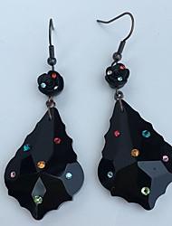 Leaf Drop Earrings Hoop Earrings Earrings Set Jewelry Basic Design Party Daily Rhinestone 1 pair Black