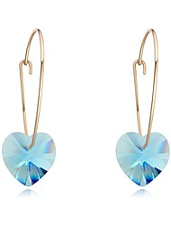 Drop Earrings Crystal Crystal Gold Plated Fashion Geometric Fuchsia Rose Green Blue Light Blue Jewelry Daily Casual 1 pair