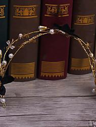 סגסוגת דמוי פנינה בד כיסוי ראש-חתונה אירוע מיוחד קז'ואל סרטי ראש חלק 1