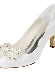 Svatební obuv-Elastický satén-klub Boty-Dámské-Křišťálový-Svatba Party-Vysoký