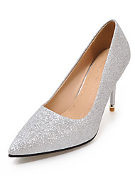 Topuklular-Düğün Elbise Parti ve Gece-Kulüp Ayakkabı-Sentetik-Stiletto Topuk-Altın Siyah Gümüş Kırmzı Pembe-Kadın