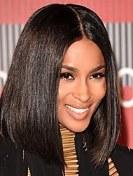 הגעה חדשה חזית תחרת שיער בוב אנושית פאות שיער בתולה ברזילאית לנשים שחורות עם שיער תינוק
