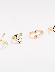 Ring Midi Rings Jewelry Geometric Euramerican Fashion Personalized Alloy Geometric Snake Rings For Special Occasion Daily Casual 4pcs