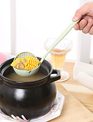 Wheat Straw In One Spoon Spoon Colander Long-handled Spoon Green Environmental Protection The Spoon Hot Pot Color Random