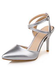 Sandaletler-Ofis ve Kariyer Elbise Parti ve Gece-D'Orsay ve İki Parça-PU-Stiletto Topuk-Altın Siyah Gümüş Pembe-Kadın