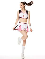 Kostýmy pro roztleskávačky Úbory Dámské Výkon Modální Barevné bloky 2 kusy Bez rukávů Vysoký Sukně horní a dolní část)