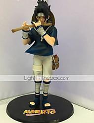 Anime Toimintahahmot Innoittamana Naruto Sasuke Uchiha PVC 24 CM Malli lelut Doll Toy