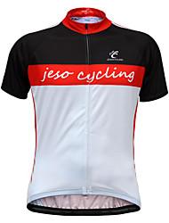 JESOCYCLING Camisa para Ciclismo Homens Manga Curta MotoRespirável Secagem Rápida Materiais Leves Bolso Traseiro Redutor de Suor Macio
