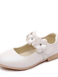 Nokasíny-PU-Pohodlné S páskem-Dívčí-Zlatá Bílá Růžová-Běžné-Plochá podrážka