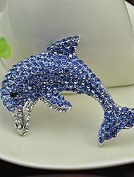 נשים ´נערות תפס לשיער ריינסטון סגנון חיות אבן נוצצת תכשיטים כחול תכשיטים ל Party אירוע מיוחד יומי קזו'אל