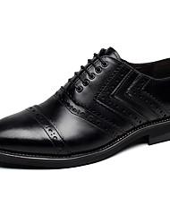 Da uomo-Oxford-Matrimonio Tempo libero Ufficio e lavoro Serata e festa-scarpe Bullock-Basso-Di pelle-
