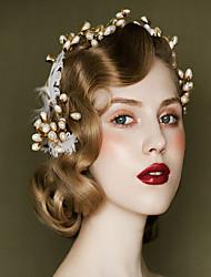 פנינה כיסוי ראש-חתונה אירוע מיוחד קז'ואל חוץ נזרים סרטי ראש פרחים Stick השיער כלי לשיער זרי פרחים קליפס לשיער חלק 1