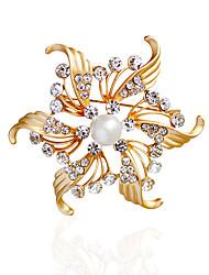 Dámské Brože Imitace perly imitace drahokamuZákladní design Jedinečný design Květiny příroda přátelství Napodobenina perel Módní Retro