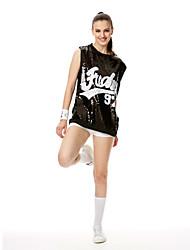 Kostýmy pro roztleskávačky Šaty Dámské Výkon Filtrový Flitry Jeden díl Krátké rukávy Šaty 70