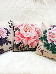 1 pcs Linen Pillow Case Body Pillow Travel Pillow Sofa Cushion Novelty Pillow,Floral Graphic PrintsAccent/Decorative Outdoor