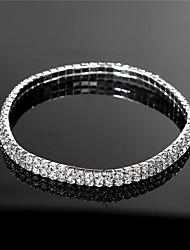 נשים תכשיטי גוף שרשרת רגל אופנתי קריסטל סגסוגת זהב כסף תכשיטים ל חתונה Party אירוע מיוחד ארוסים קזו'אל ספורט 1pc