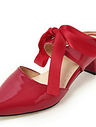 Women's Clogs & Mules Spring Summer Novelty Slingback Club Shoes Patent Leather Leatherette Office & Career Dress CasualChunky Heel Block