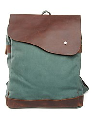 Muchuan 15,6 palcový počítač taška přes rameno plátno kůň kůže cestovní batoh
