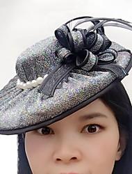 טול דמוי פנינה רשת כיסוי ראש-חתונה אירוע מיוחד קז'ואל קישוטי שיער כובעים חלק 1