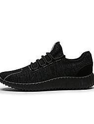 Atletik Ayakkabılar-Rahat-Rahat-Tül-Düz Topuk-Siyah Gri Haki-Erkek