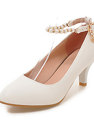 Women's Heels Summer Fall Club Shoes PU Office & Career Party & Evening Dress Stiletto Heel Pearl