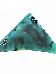 1 Pcs Acetic Acid Ink Stone Marble Green Large Triangle Claw Clip To 2 Colors
