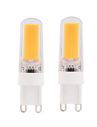 2 Pcs BRELONG Dimmable 3W COB LED Lights G9 G4 E14 White / Warm White  Bulb AC220-240V