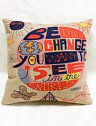 1 pçs Linho Almofada Inovadora Fronha Almofada de Corpo Almofada de Vigem almofada do sofá,Inovador Estampas Abstratas Frases e Citações