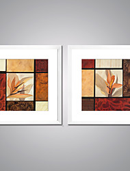 Canvas Prints Abstract Flower Painting Picture Print on Canvas with White Frame  for Wall Decoration