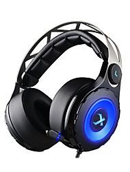 xiberia T18 gaming headset hovedtelefoner over-ear usb 7.1 ledede gaming headsts med udtrækkeligt mikrofon til pc gamer