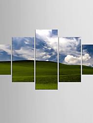 Valokuvaprintit Maisema Moderni Pastoraali,5 paneeli Kanvas Mikä tahansa muoto Tulosta Art Wall Decor For Kodinsisustus