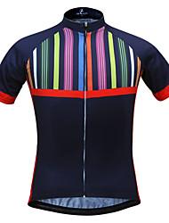 JESOCYCLING Camisa para Ciclismo Mulheres Manga Curta MotoRespirável Secagem Rápida Resistente Raios Ultravioleta Bolso Traseiro Redutor