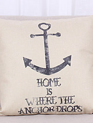 1 pcs Linen Pillow Cover Pillow Case,Textured Nautical Still Life Graphic PrintsModern/Contemporary Casual Office/Business Outdoor Euro