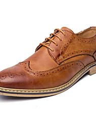 oxfords homens da mola sapatos queda formal, sapatos de conforto boi casamento do couro do escritório ao ar livre&festa de