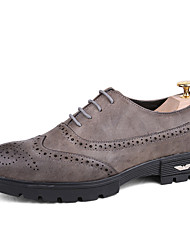 גברים נעלי חתונה נעלי בולוק נעליים פורמלית PU קיץ סתיו משרד ועבודה יומיומי מסיבה וערב שחור אפור ס