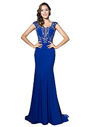 שמלת ערב רשמית חצוצרה / בתולת הים סקופ ג 'רזי הרכבת המשפט עם חרוז