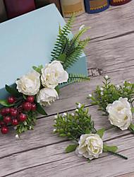 פשתן בד כיסוי ראש-חתונה אירוע מיוחד קז'ואל חוץ פרחים חלק 1