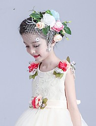 Polyester Helm-Bruiloft Speciale gelegenheden Informeel Buiten Bloemen 1 Stuk